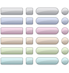 Pale blank buttons vector