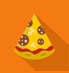 pizza slice icon flat style vector image