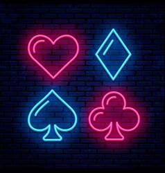 poker blackjack card suits vector image