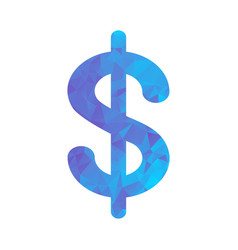 polygon blue icon dollar vector image