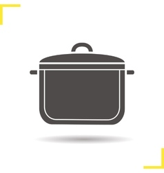 Pot icon vector
