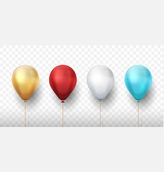 realistic balloons 3d holiday party elements vector image