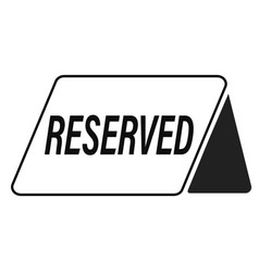 reserved icon on white background flat style vector image