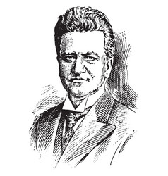 Robert m la follette vintage vector