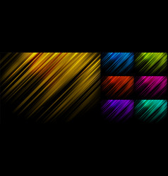 Set abstract blue yellow green red pink vector