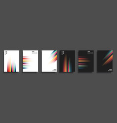 set of backgrounds with gradient color lines vector image