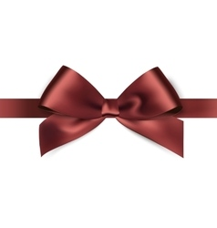 Shiny brown satin ribbon on white background vector