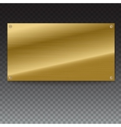 Shiny brushed metal gold yellow plate banners on vector