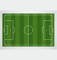 soccer field european football stadium court vector image