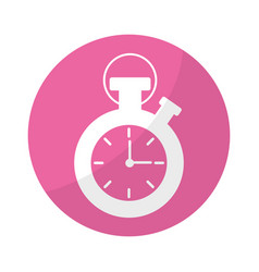 sticker chronometer to know and meter the time vector image