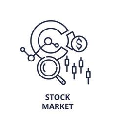 stock market line icon concept stock market vector image