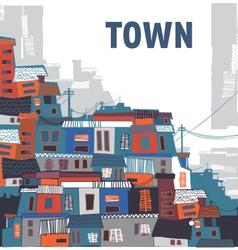 Suburban town vector