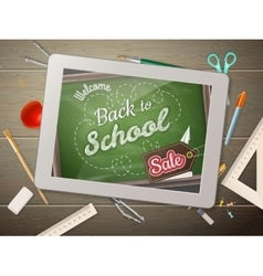 Tablet back to school Sale EPS 10 vector