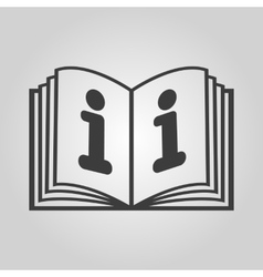 The open book icon Manual and tutorial vector