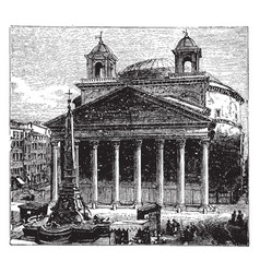The pantheon at rome as a temple to all the gods vector