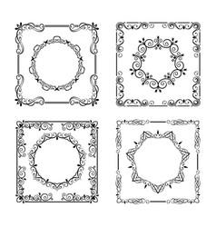 vintage frames borders vector image