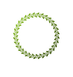 vintage round frame created with ecology style vector image