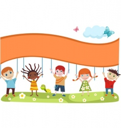 children's card vector image