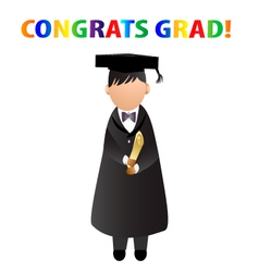 Congrats grad card vector image