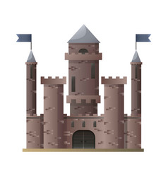dark brown cartoon medieval castle with high vector image