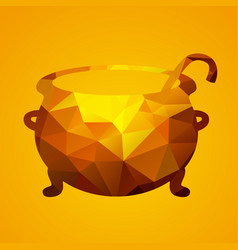 witch cauldron of triangles vector image