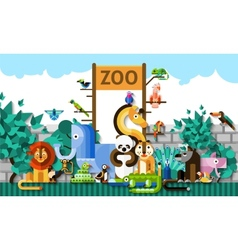 Zoo Background vector image