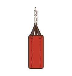 punching boxing sack vector image