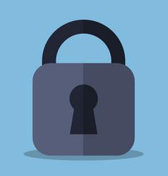security padlock icon vector image