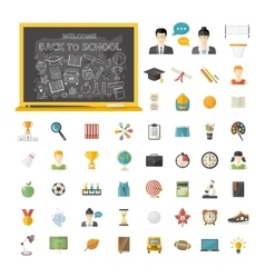 Back to school set vector image