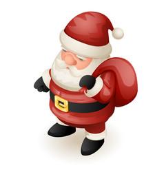 gift bag cute isometric 3d christmas santa claus vector image vector image