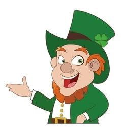 leprechaun character icon vector image
