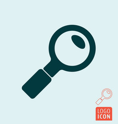 search icon isolated vector image vector image