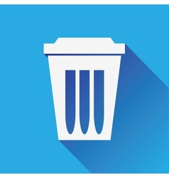 Trash Can vector image vector image