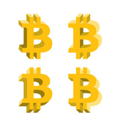 bitcoin volume logo icons with different sides vector image