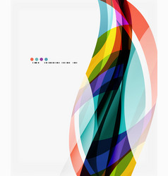 modern geometric wavy shapes on light vector image vector image