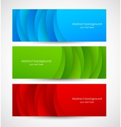 Set of abstract colorful banners vector