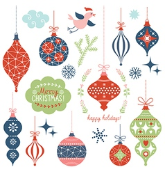 Set of Christmas toys vector image vector image