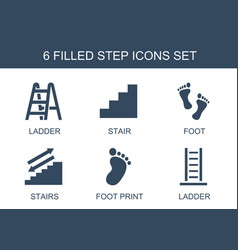 6 step icons vector