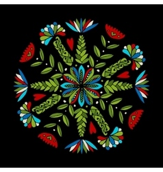 Abstract ethnic round ornamental pattern vector image