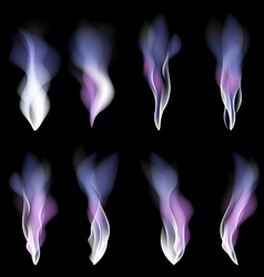 Abstract festive light background smoke violet vector image