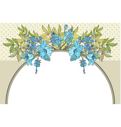 Abstract flower frame with text place vector