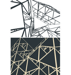 Abstract geometric structure vector