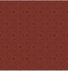 Abstract red seamless hand-drawn pattern vector image