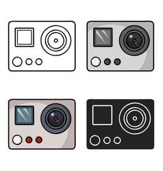 Action camera icon in cartoon style isolated on vector