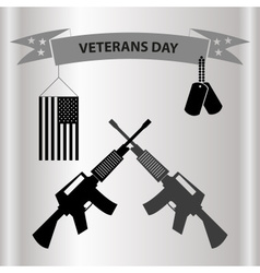 American veterans day celebration in grayscale vector