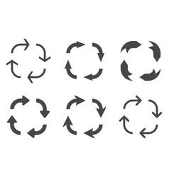 arrows in circular motion arrow combinations vector image