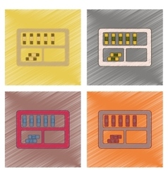 assembly flat shading style icon folder shelf vector image