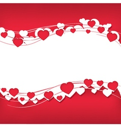 Background for text with hearts vector