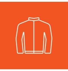 Biker jacket line icon vector image