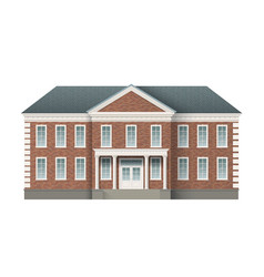 Brick administrative building vector